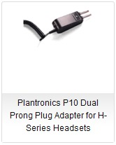 Plantronics P10 Dual Prong Plug Adapter for H-Series Headset