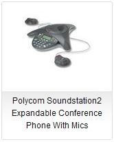 Polycom SoundStation 2 Expandable Conference Phone With Mics